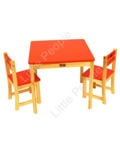 TikkTokk Little BOSS Table & Chairs Set - SQUARE Red