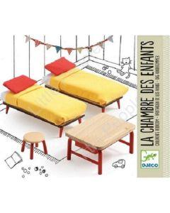 Djeco Modern Doll House Furniture Set - The Children's Bedroom