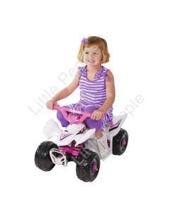 Yamaha Mini Quad TRX ATV 6 Volt Ride On Boys and Girls White-Pink