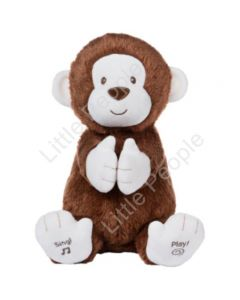 NEW Gund Plush Sing and PlayAnimated Clappy the Monkey  Great Gift Idea