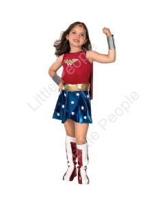CHILD DELUXE WONDER WOMAN - SIZE L 8-10 NEW COSTUME
