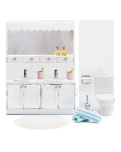Lundby  Dolls Houes Funiture Small Land Classic Bathroom Set