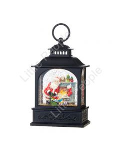 RAZ Santa by Fireplace Lighted Water Lantern